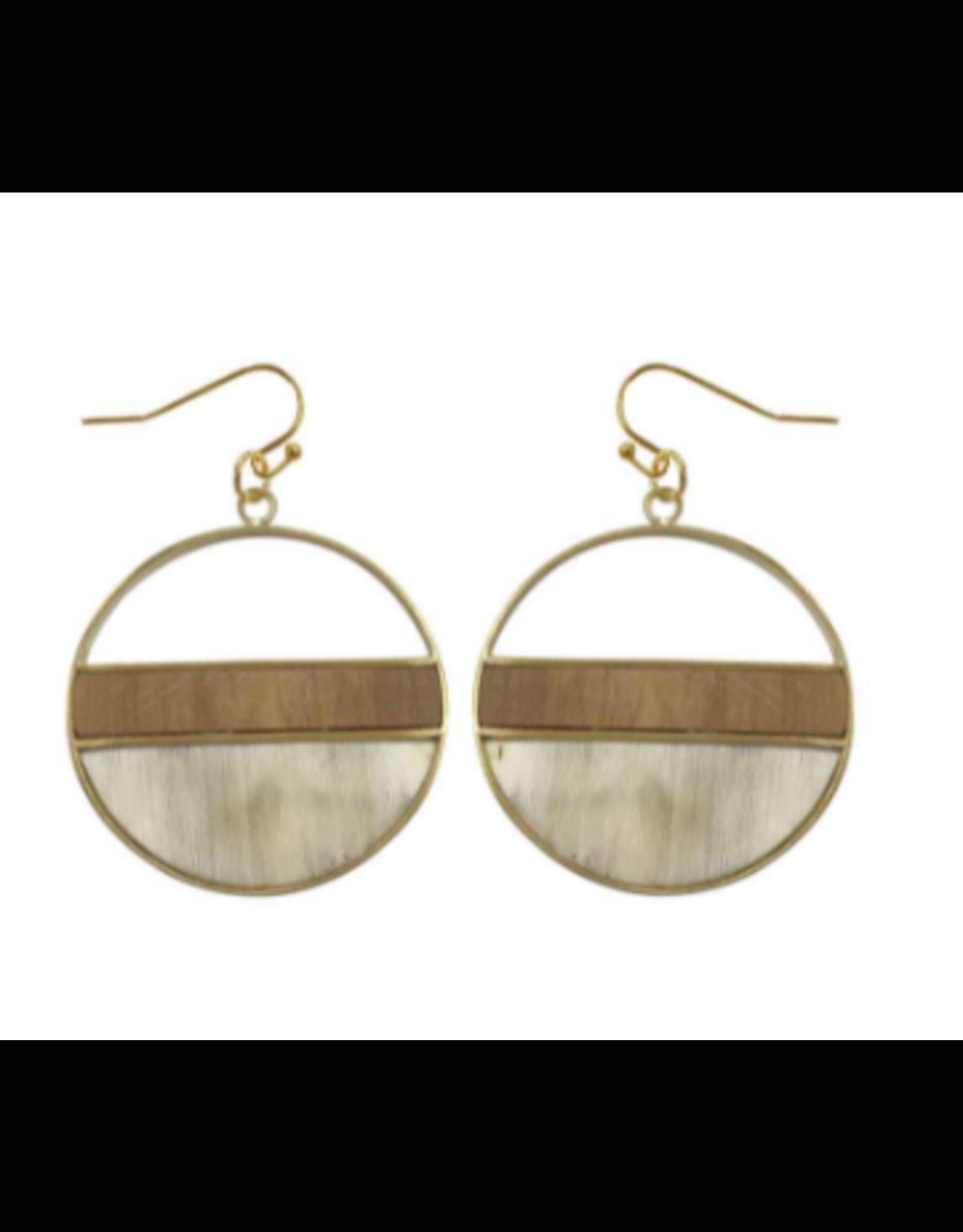 Emilia Geometric Upcycled Bullhorn Earrings, Vietnam