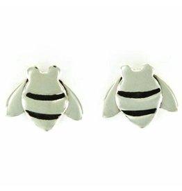 Bee Sterling Stud Earrings, MEDIUM, Mexico