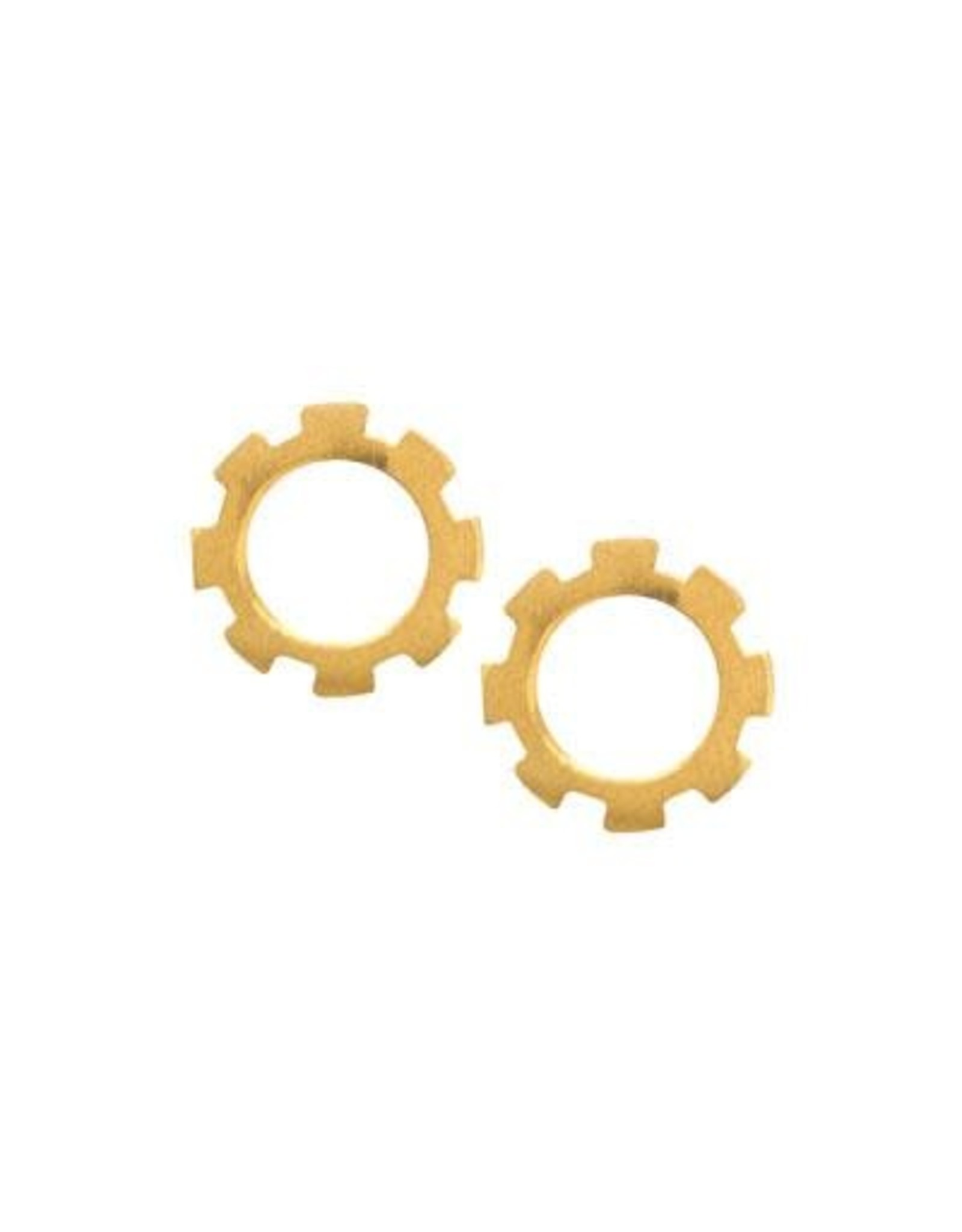Activating Gold Plated Stud Earrings, Mexico