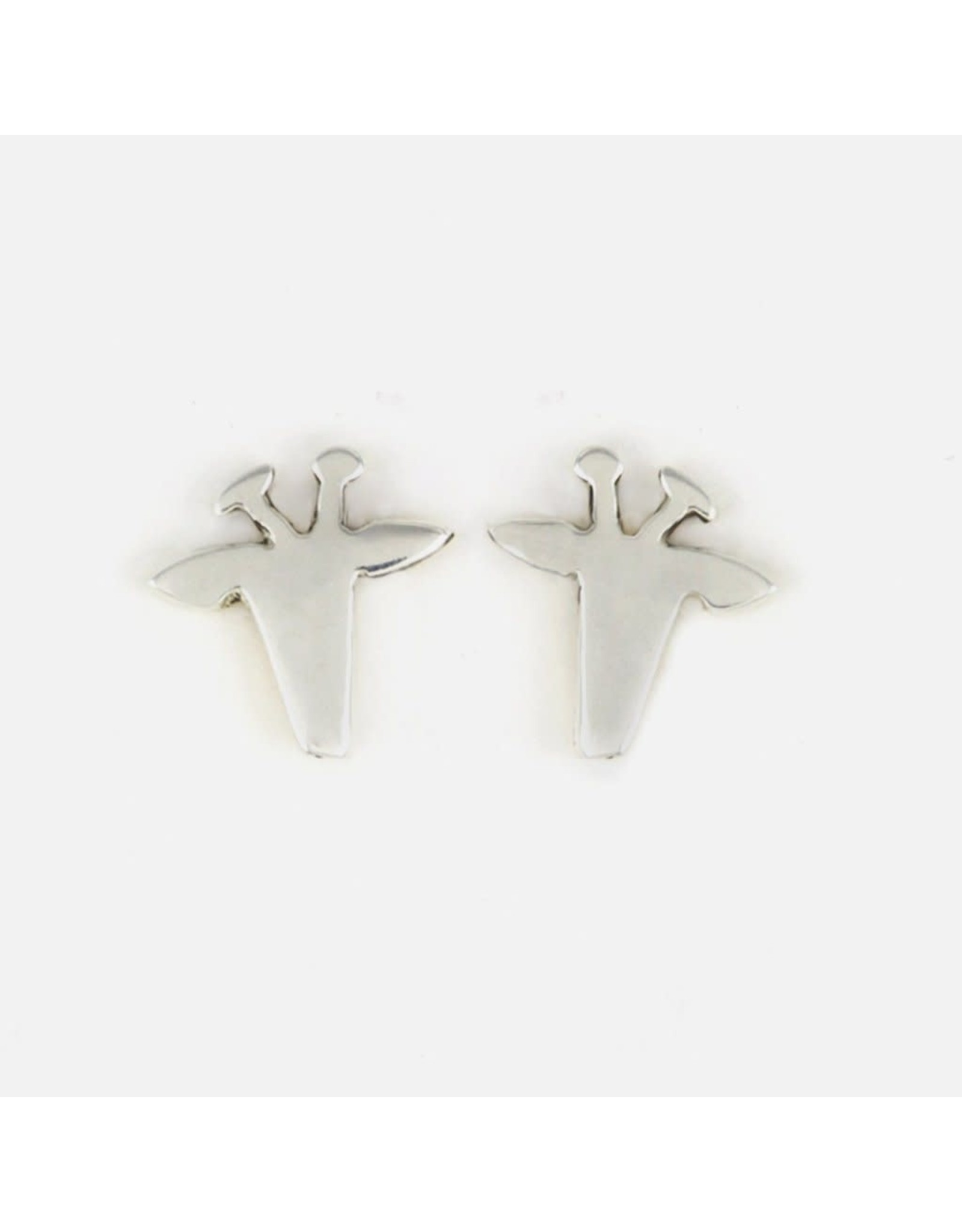 Giraffe Sterling Post Earrings, Mexico