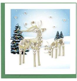 Snowy Reindeer Quilling Card, Vietnam