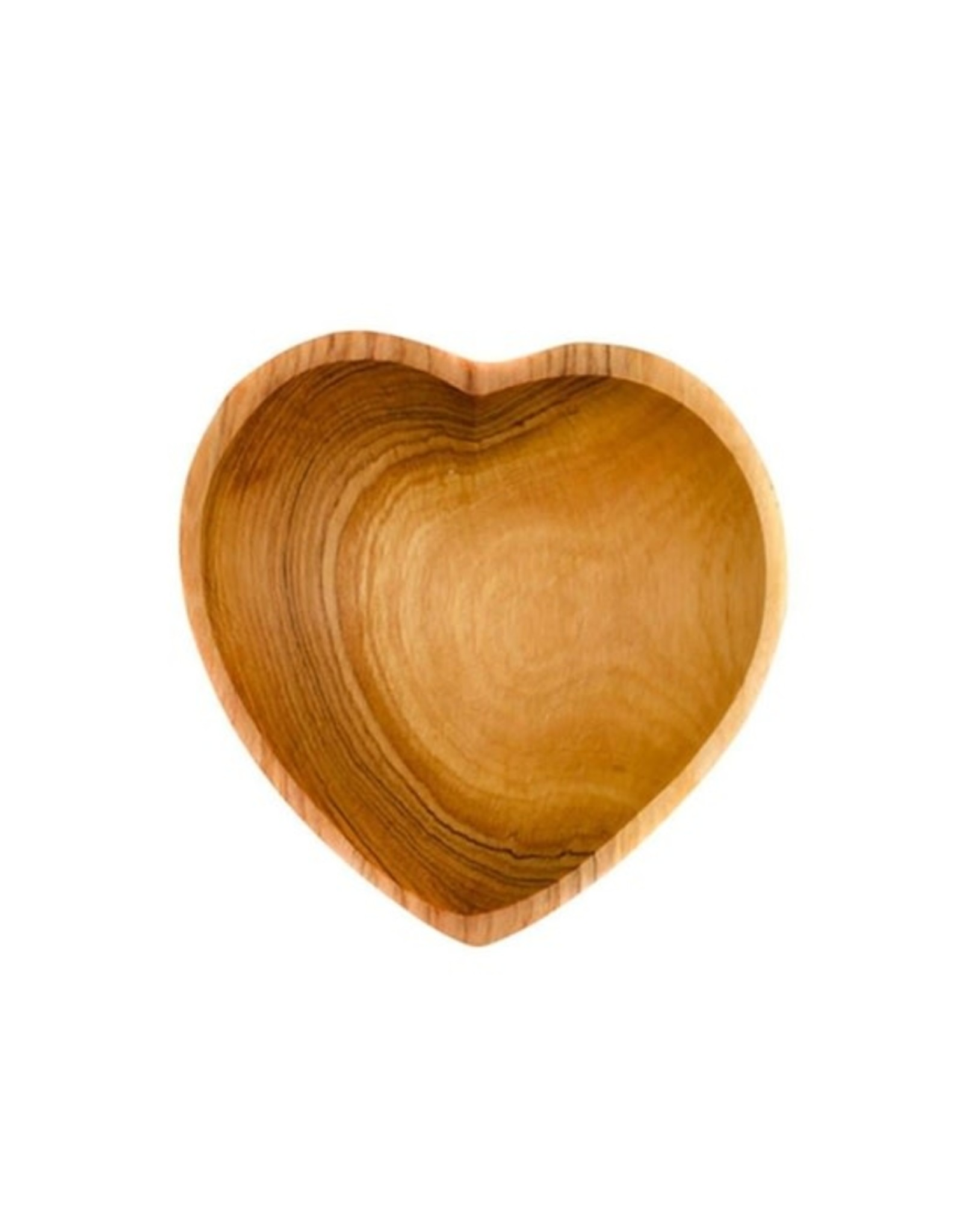 Olive Wood Heart Shaped Bowls