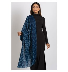 Reena Wool Scarf, Indigo, India
