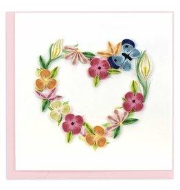 Floral Heart Quilling Card, Vietnam
