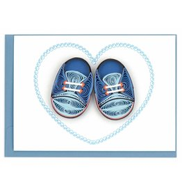 Blue Baby Booties, Quilled Gift Enclosure Card, Vietnam