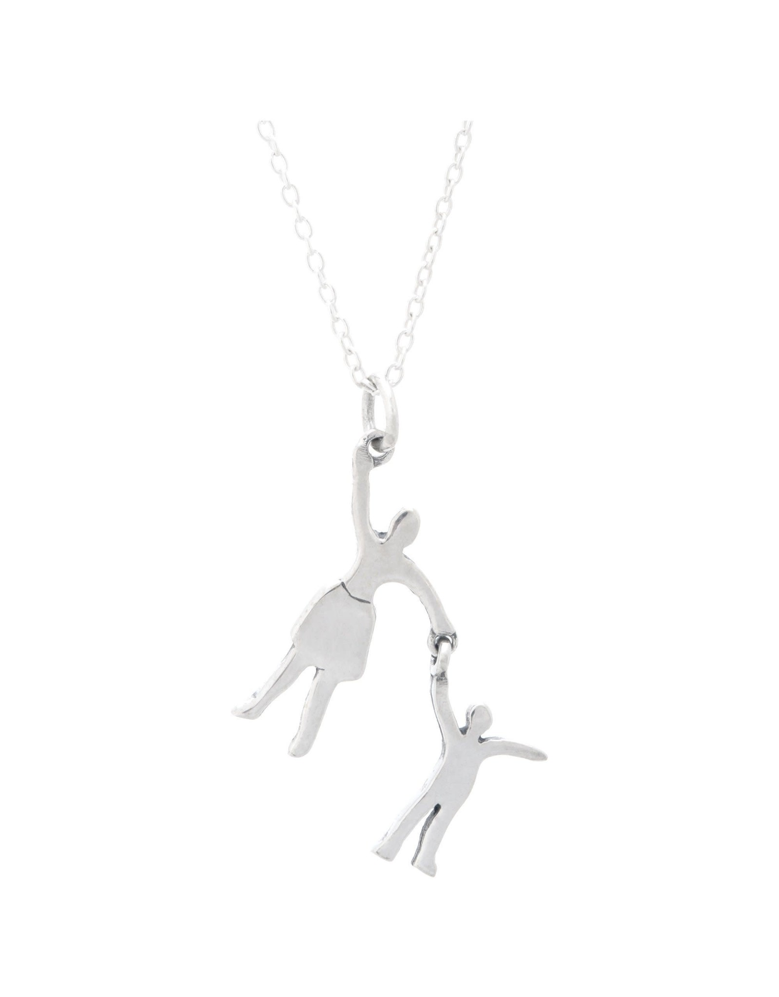 Pendant Necklace, Mother and Daughter Silhouette, Thailand