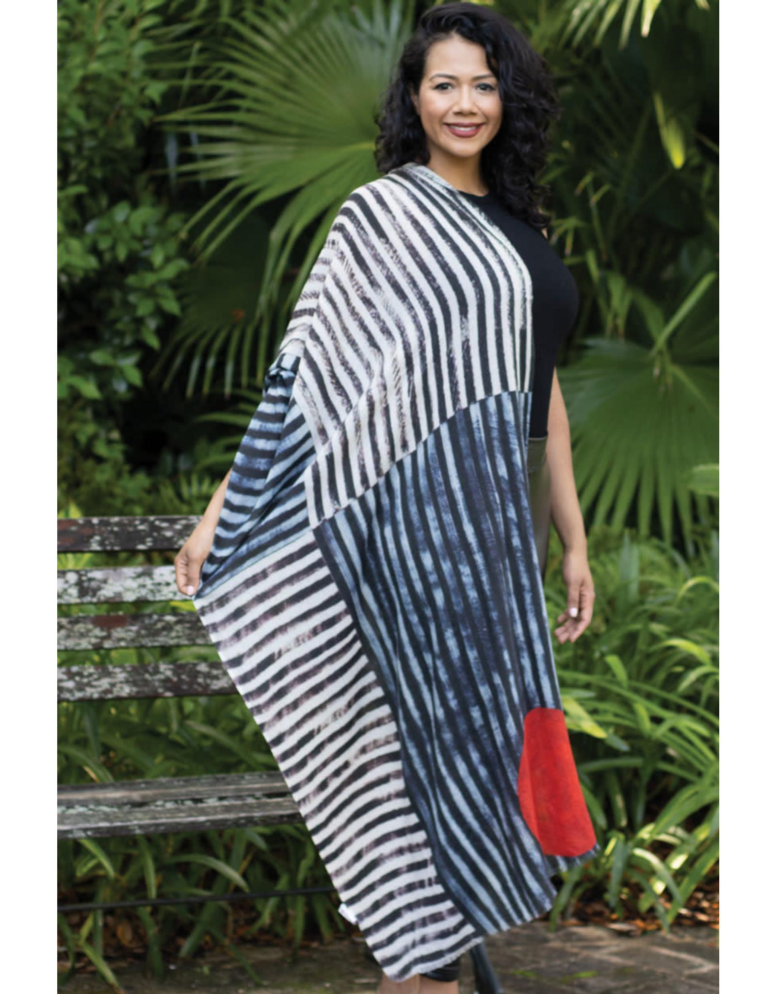 Reena Wool Scarf, Red Sun, India