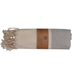Turkish Towel, Fish Bone Gray, Turkey