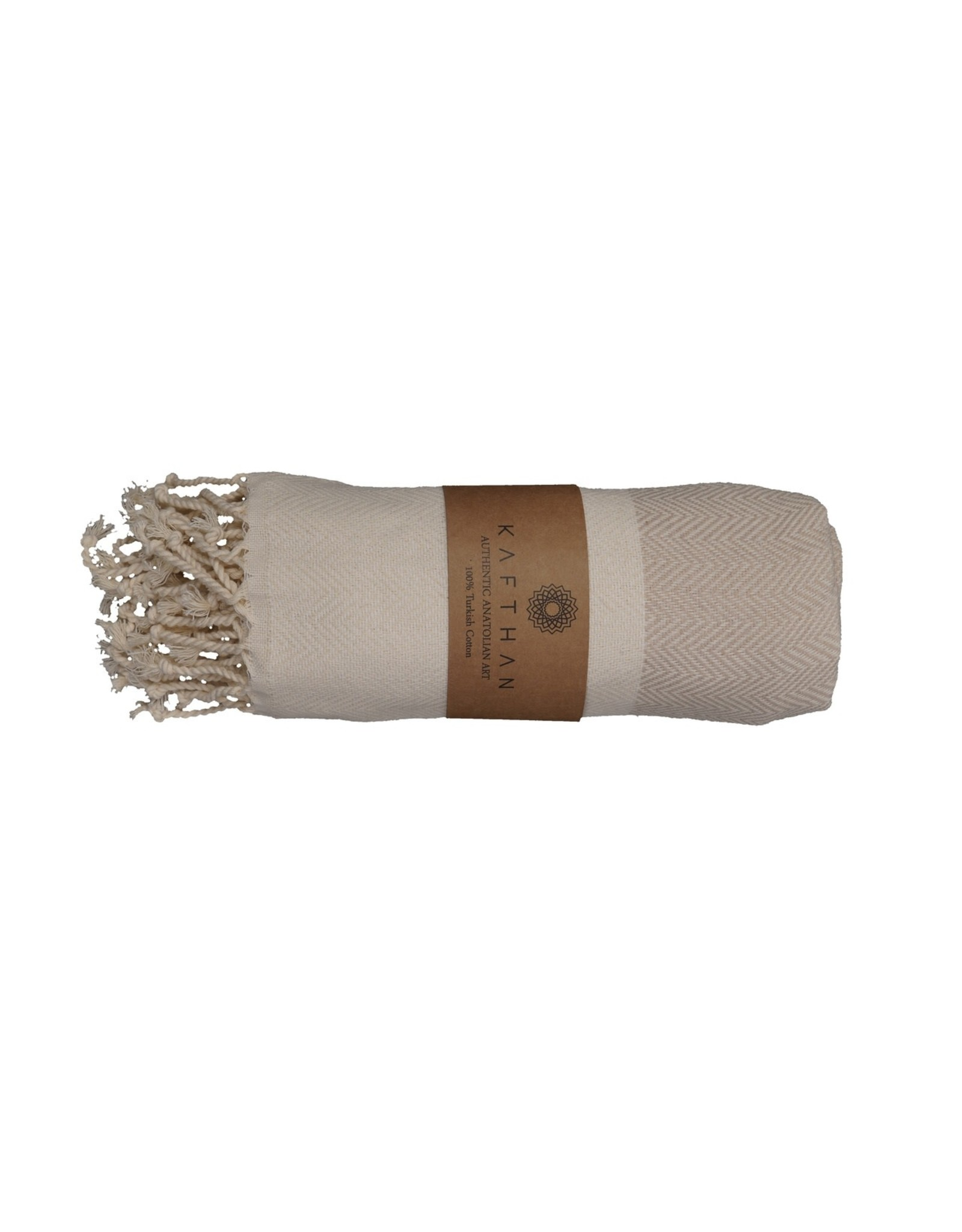 Turkish Towel, Fish Bone Beige, Turkey