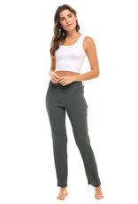 Double Cotton Leggings, Smoked Pearl