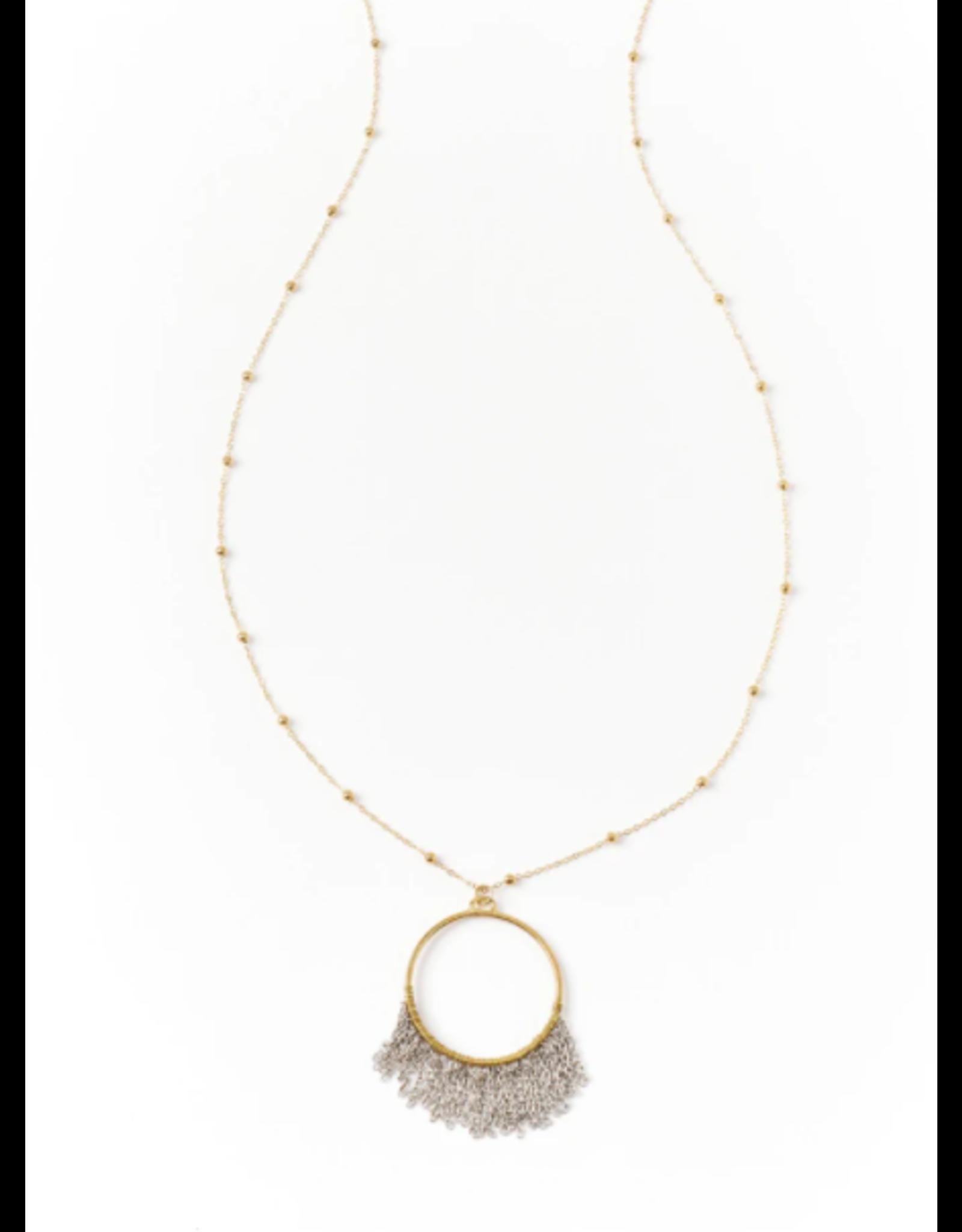 Bhavani Necklace - Fringe Pendant, India
