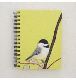 Large Notebook Chickadee Light Green