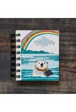 Small Notebook Sea Otter Natural White , Sri Lanka