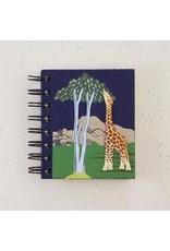 Small Notebook Giraffe Dark Blue, Sri Lanka