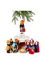 Felt Nativity Yurt