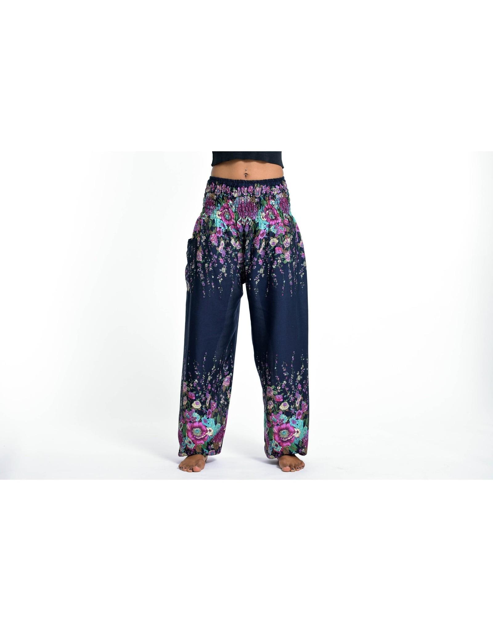 Elephant Pants, Floral Blue