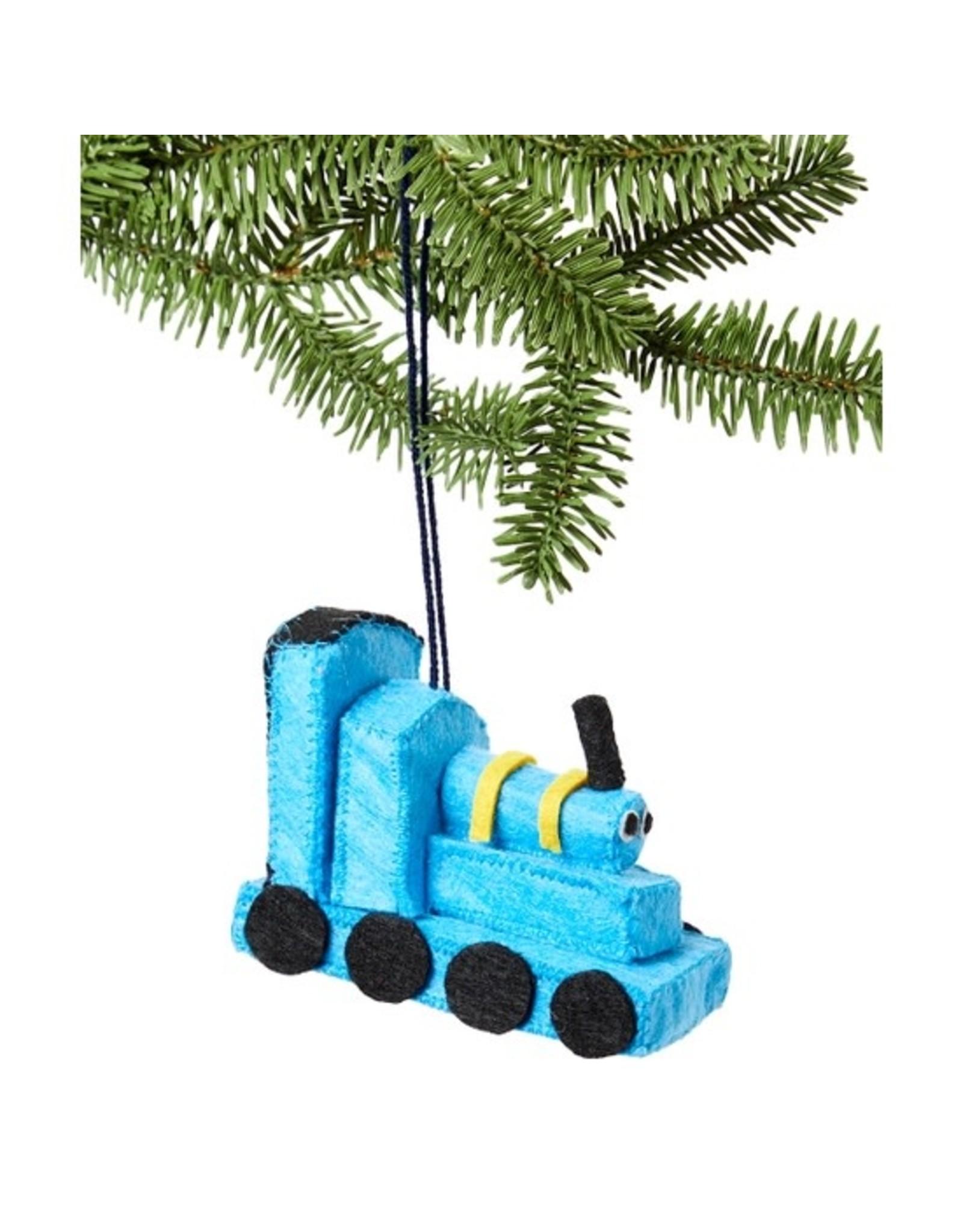 Blue Train Ornament