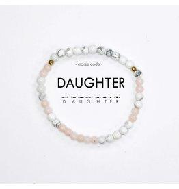 Morse Code Bracelet  Daughter