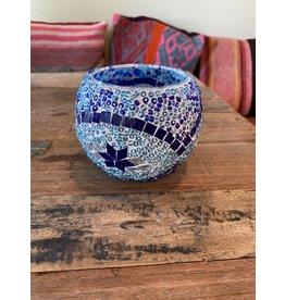 """4"""" Mosaic Candle Holder, Turkey"""