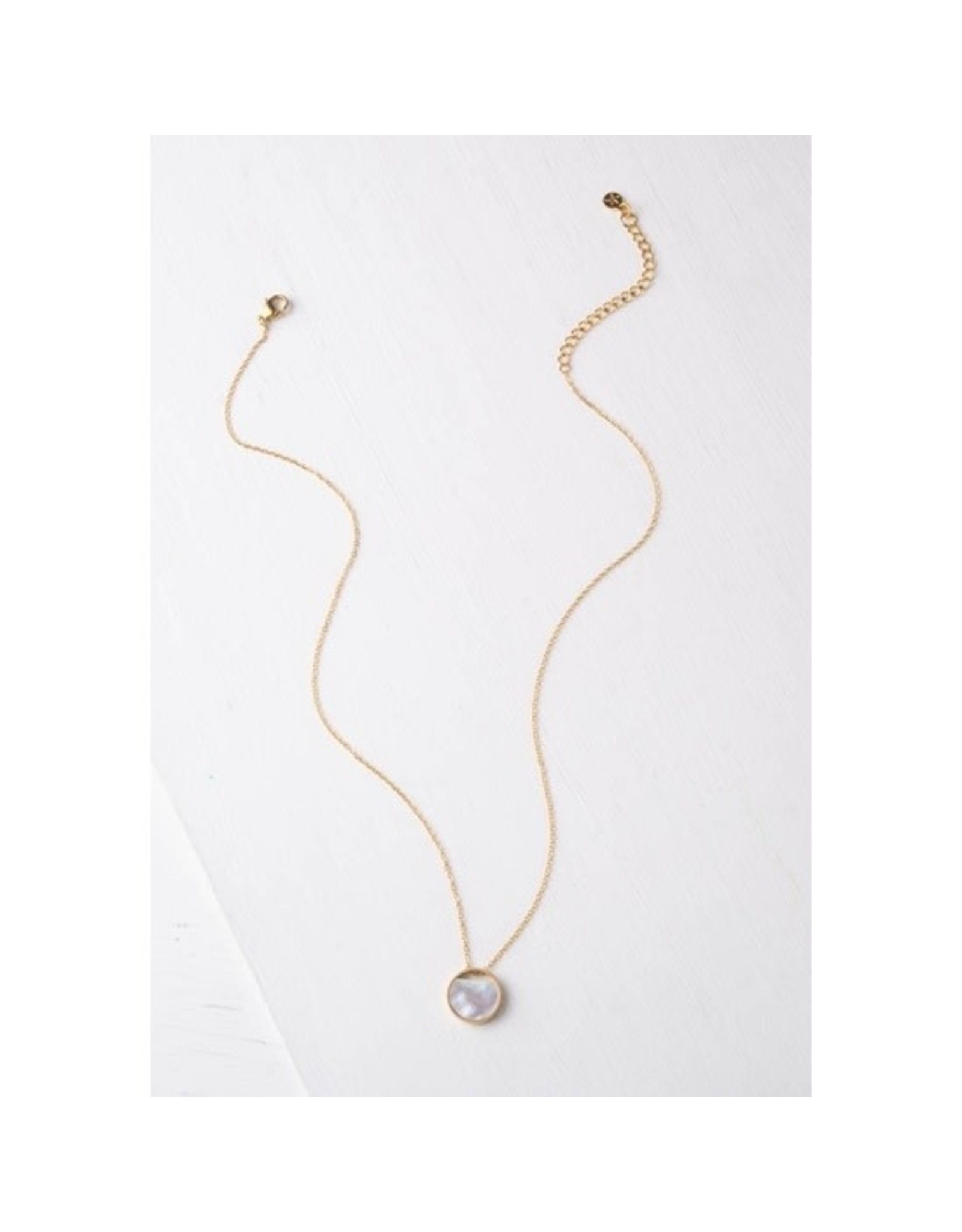 Iris Mother of Pearl, Gold Plated Necklace