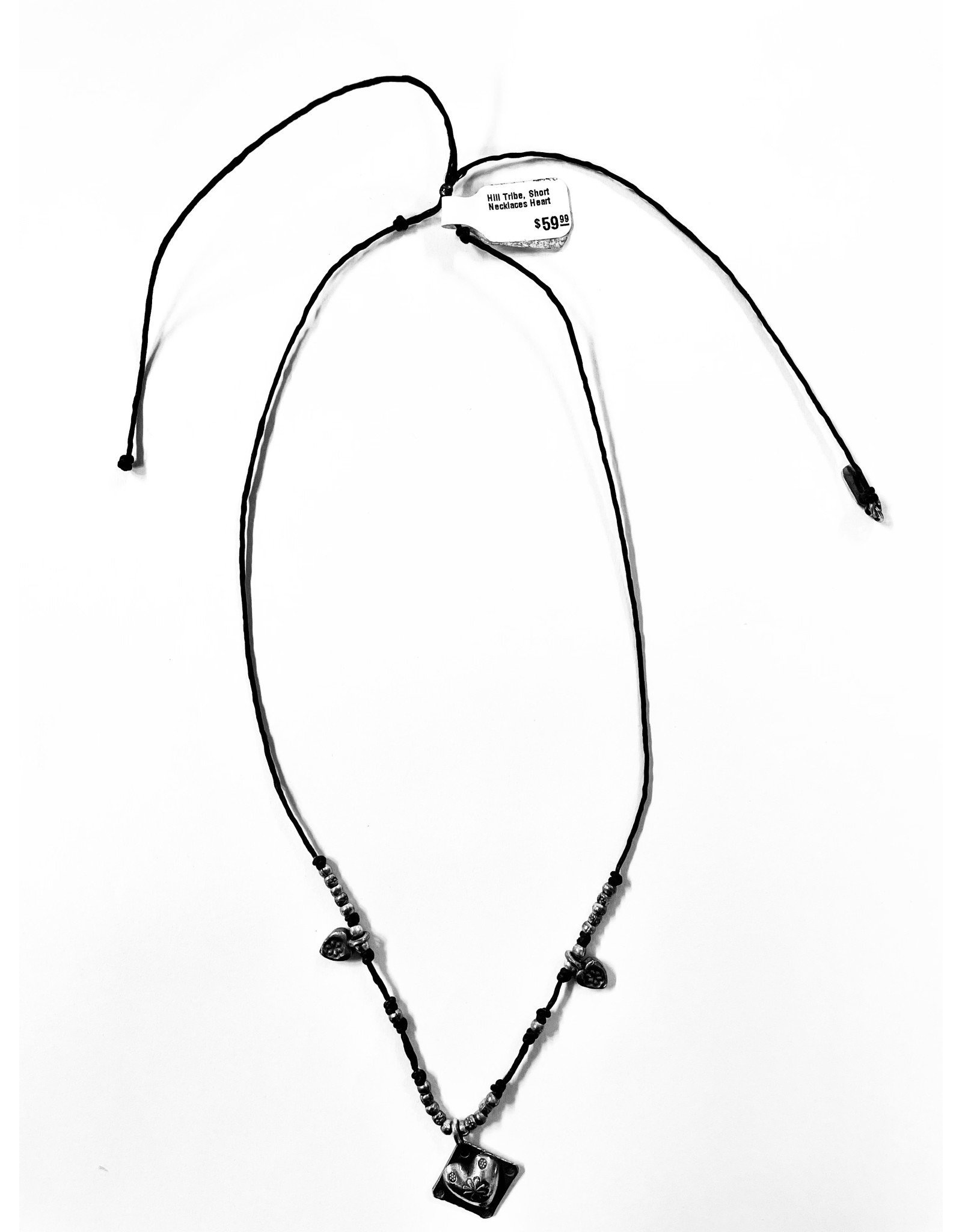 Hill Tribe, Short Necklace, Heart