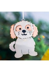 Fluffy Dog Mixed Metal Ornament