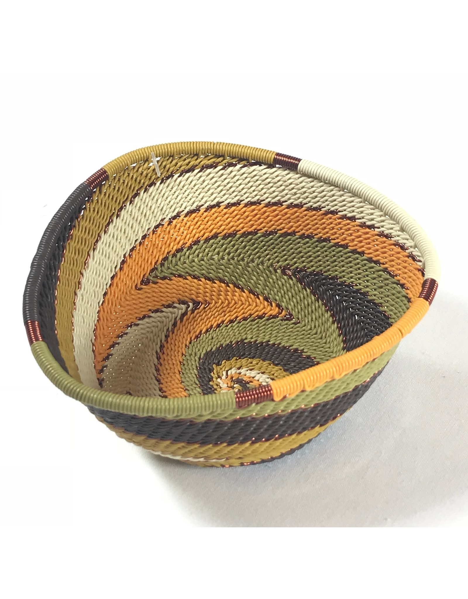Telephone Wire Triangle Bowl, African Earth