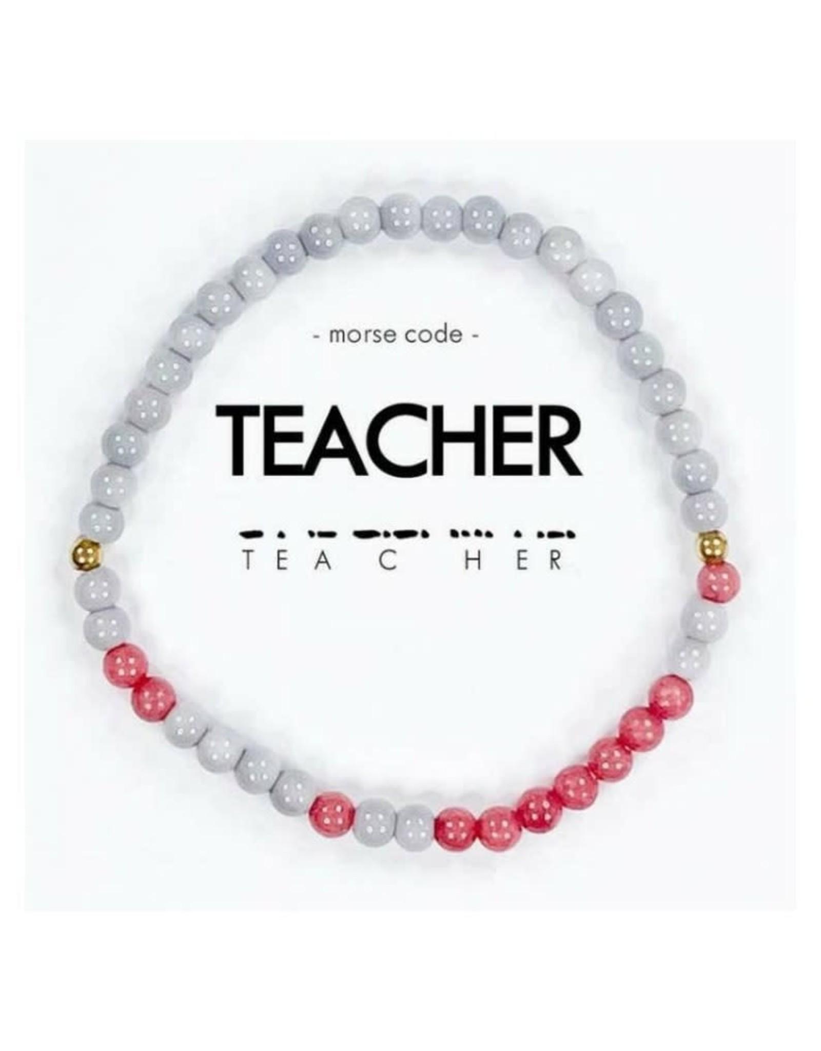 Morse Code Bracelet, Teacher