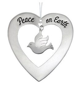 Peace on Earth Dove Mixed Metal Ornament