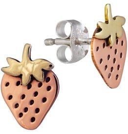 Sweet Strawberry Post Earrings