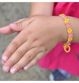 Kid's Flower Bracelet Beaded, Guatemala