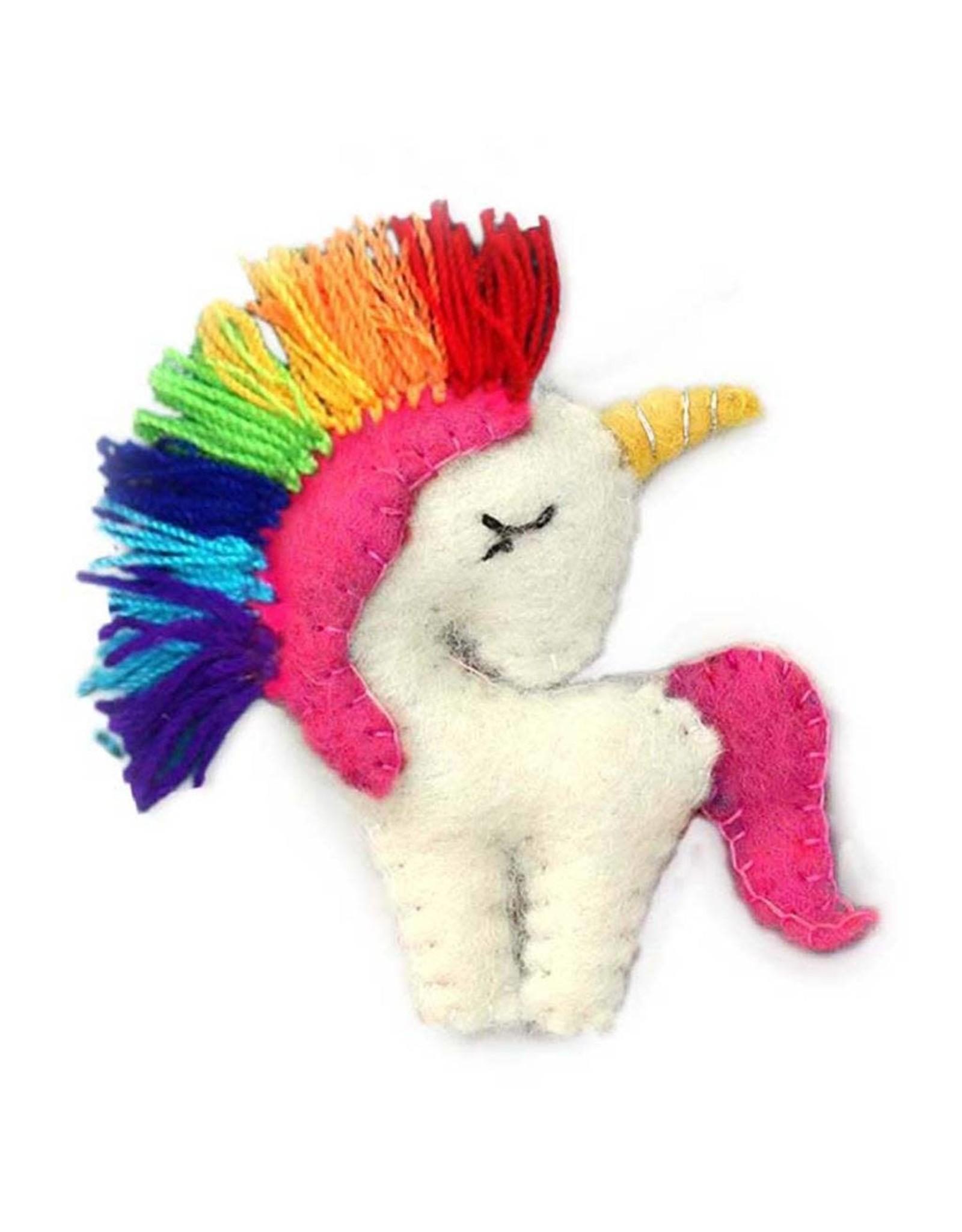 Rainbow Unicorn Ornament