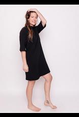 Eve Black, Cotton/Spandex Dres