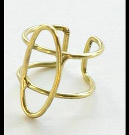 Foster Adjustable Brass Ring