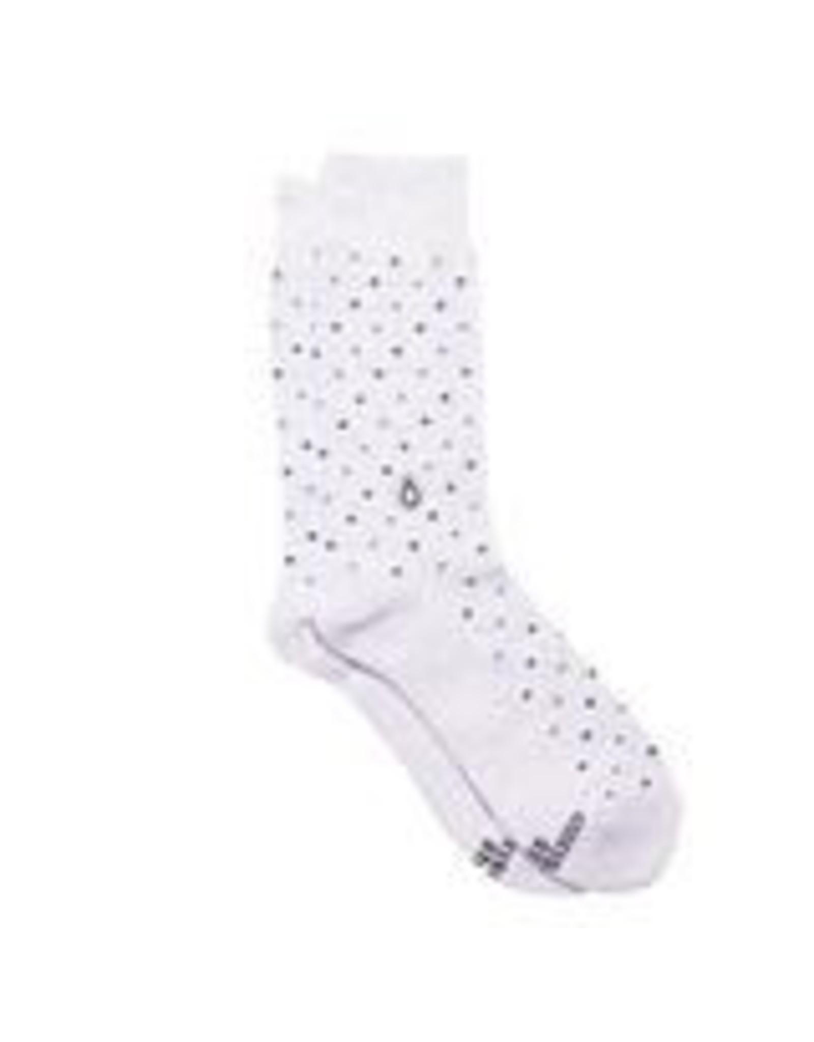 Socks that Give Water, Blue Polka Dot