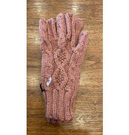 Cable Glove, Pink, Alpaca Peru