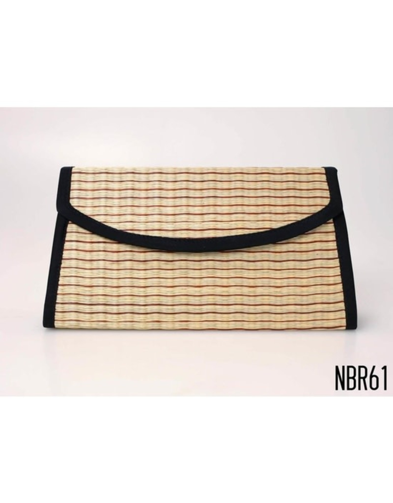 Clutch with Braided Strap, Natural