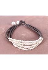 Cherish Bead, Adjustable on Leather Cord