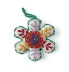 Felted Wool Snowflake Ornament