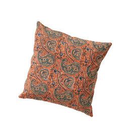 Paisley & Lotus Kalamkari Reversible Pillow, India