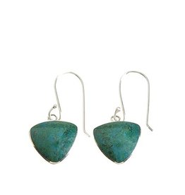 Peruvian Andean River Triangle Earrings