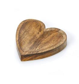 Serrv Carved Heart Trinket Dish, India