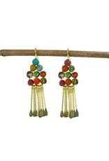 Kantha Chime Earrings, India