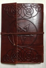 India, Leather Journal w/ Star and Tie