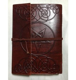 Leather Journal w/ Star and Tie