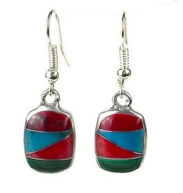 Rectangle Zig Zag Mosaic Earrings