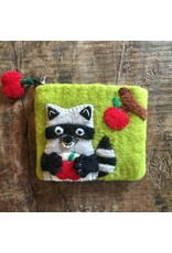 Raccoon Felted Coin Purse