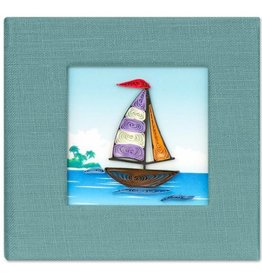 Quilled Post It Notes Cover, Sailboat, Vietnam