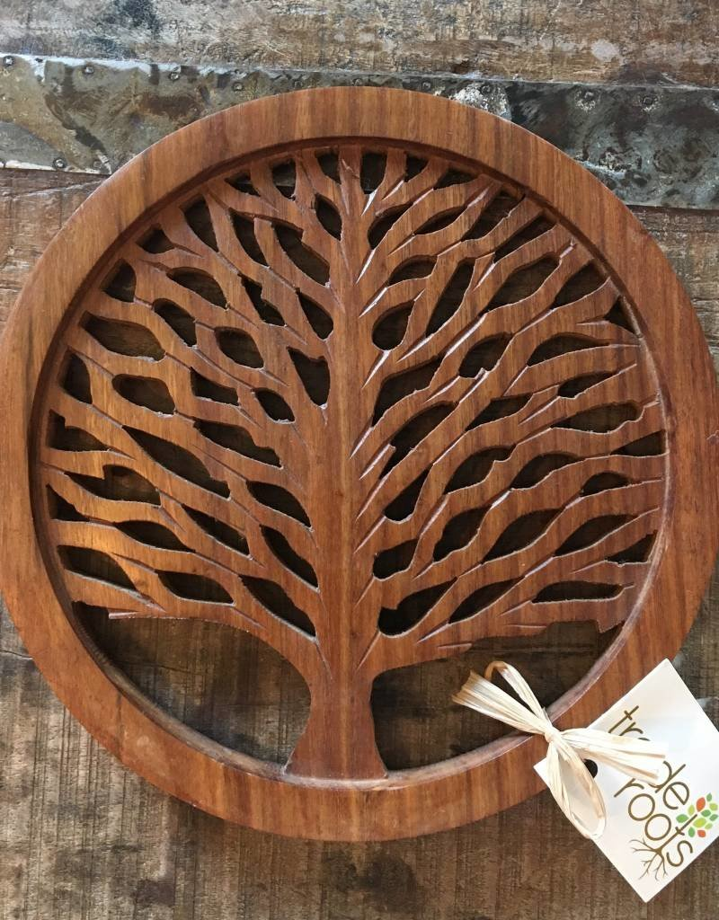 Tree of Life Wood Trivet