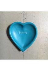 Believe Heart Soapstone Dish, Kenya